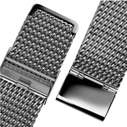 "Geckota ""Oblique"" Milanese Mesh Stainless Watch Strap"