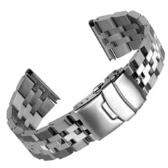 Geckota Chamfered 5 Link Stainless Steel Watch Strap