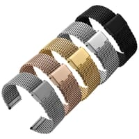 Classic Style Stainless Steel Milanese Mesh Watch Strap
