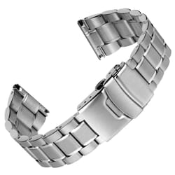 Classic Ellipse Solid Stainless Steel Watch Strap