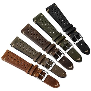Geckota Winstone (MKII) Racing Leather Watch Strap