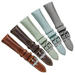 Kington Vintage Style Leather Dress Watch Strap - Shorter Length