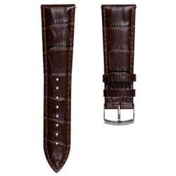 Geckota Extra Wide Alligator Grain Genuine Leather Watch Strap
