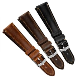 Derain Handmade Remborde Genuine Leather Watch Strap