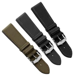Seaford Sailcloth Water-Resistant Leather Watch Strap