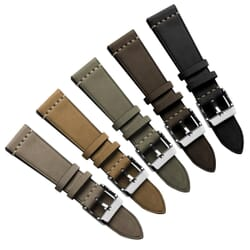 Radmoor Top-Grain Nubuck Leather Vintage Style Watch Strap