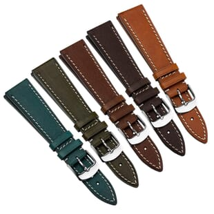 Besford Premium Quality Genuine Leather Watch Strap - Shorter Length