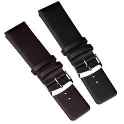 Large Smooth Genuine Leather Watch Strap - Wide Fitting