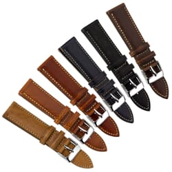Geckota Contoured Handmade Italian Leather Watch Strap