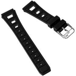 ZULUDIVER 295 Vintage Style Rubber Watch Strap (20mm)