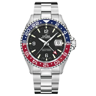 "Delma Santiago ""Pepsi"" GMT Swiss Made Watch"
