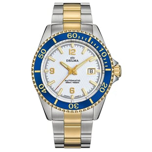 Delma Santiago Two Tone Automatic Divers Watch