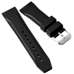 ZULUDIVER 324 CF Pattern Rubber Watch Strap