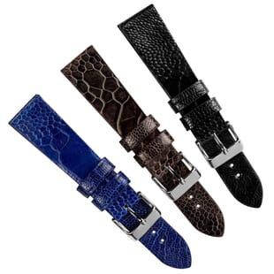 Handmade Genuine Ostrich Leg Watch Strap by Geckota