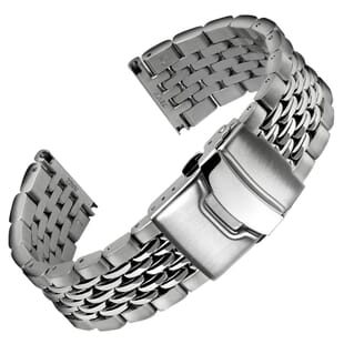 Beads of Rice Premium Stainless Steel Watch Strap