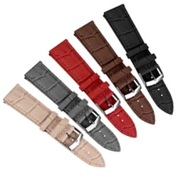 Bollate Alligator Grain Leather Quick Release Watch Strap