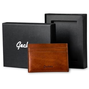 Geckota Vintage Italian Leather Card Holder