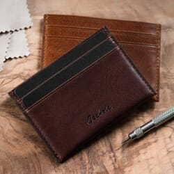 Geckota Italian Leather Card Holder