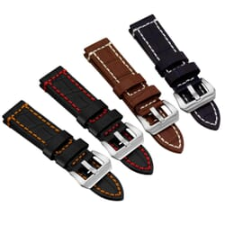 Corby Rugged Croc Grain Watch Strap by Geckota