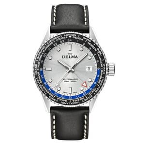 Delma Cayman Worldtimer 24H GMT Swiss Made Watch