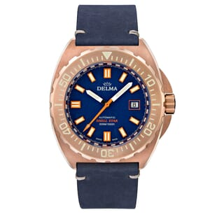 Delma Shell Star Bronze ETA 2824-2 Divers Watch