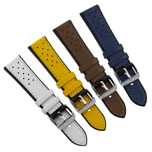 Flyboard Leather/Rubber Water-Resistant Watch Strap