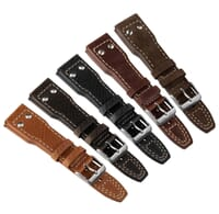Ashbourne Riveted Aviation Watch Strap by Geckota