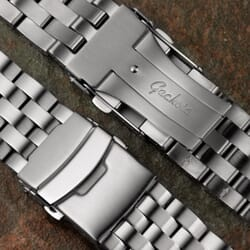 Collingham Solid 5 Link 316L Stainless Steel Watch Strap
