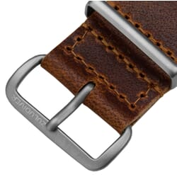 ZULUDIVER 346 Leather NATO Watch Strap Tan Brown Top