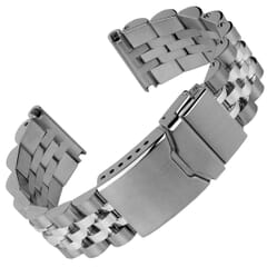 Geckota Solid Warrington Stainless Steel Watch Strap