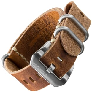 ZULUDIVER 187.J Genuine Leather ZULU Watch Band