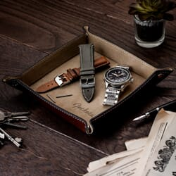 Geckota Genuine Leather Watch Travel Tray