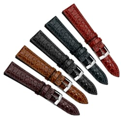 Liverpool Crocodile Grain Leather Watch Strap