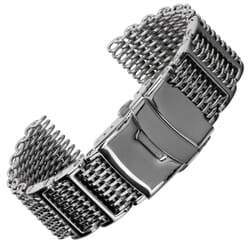 Genuine H Link Shark Mesh 316L Stainless Watch Strap
