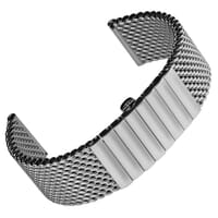 German Butterfly Mesh 316L Stainless Steel Watch Strap