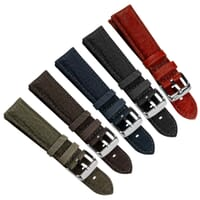 Racing Water-Resistant Textured Rubber Watch Strap