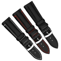 Race Water-Resistant Microfibre Watch Strap