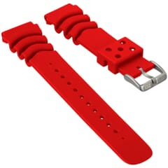 ZULUDIVER PU Z Type Red Watch Strap