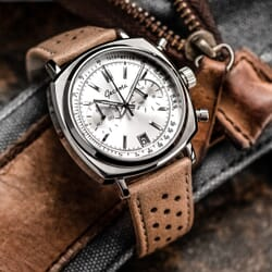 Geckota Kington Racing Genuine Leather Watch Strap