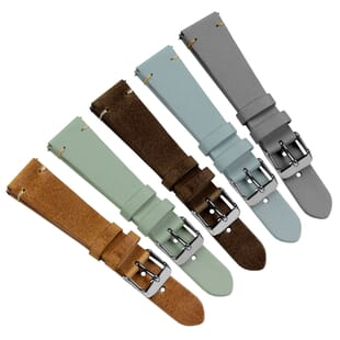 Vintage Winchester Quick Release Genuine Leather Watch Strap - Shorter Length