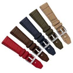 Soccer Water-Resistant Alligator Grain Watch Strap