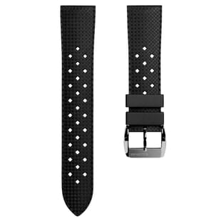 ZULUDIVER Vintage Tropical Style Rubber Watch Strap