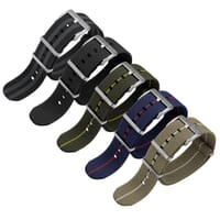 ZULUDIVER E-NATO Elasticated Woven Watch Strap