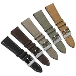 Radford Hand-Stitched Top-Grain Nubuck Leather Watch Strap