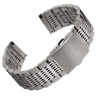 Crosskeys Solid Mesh Stainless Steel Watch Strap