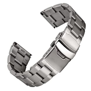 Classic Berwick Solid 316L Stainless Steel Watch Strap