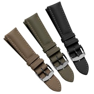 Falmouth Sailcloth Padded Water-Resistant Leather Watch Strap