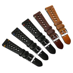 Vintage Gillingham Perforated Genuine Leather Watch Strap