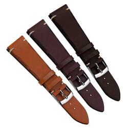 Vintage Handmade Cut Edge Genuine Leather Watch Strap