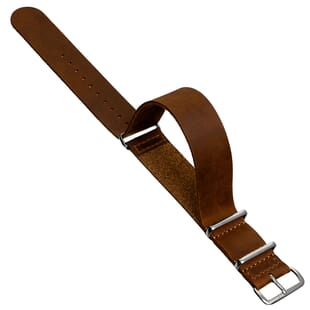 ZULUDIVER Crazy Horse Leather NATO Watch Strap
